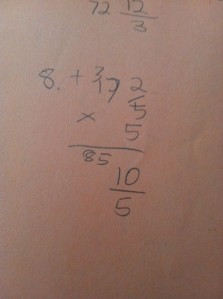 multiplying mixed number