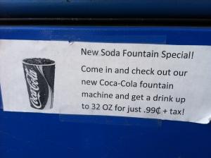 soda .99 cents