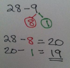 28 - 9 number bond